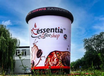Nietypowy balon - kubek z kawą Essentia