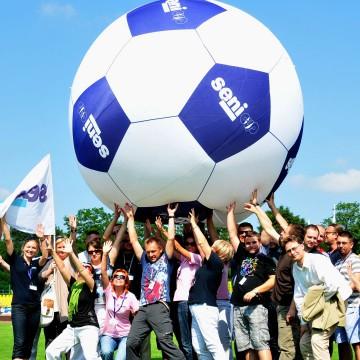 Balon helowy dwupowłokowy gigantyczna piłka