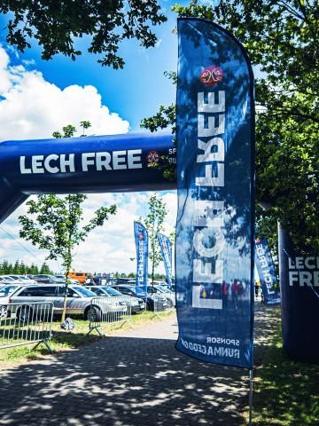 Flagi reklamowe Rider z marką Lech Free
