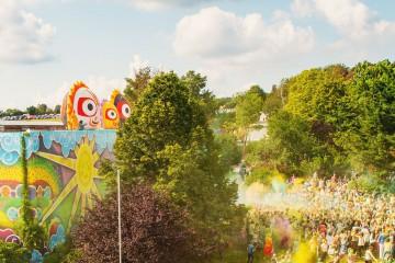 Nietypowe balony Słoneczka podczas Just Love Festiwal