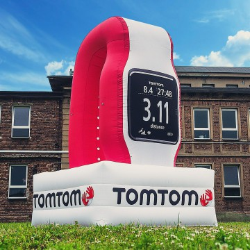 Replika produktu - balon w kształcie zegarka TomTom