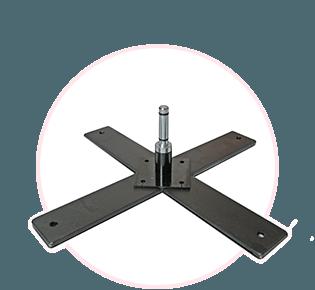 Podstawa krzyżowa z rotatorem