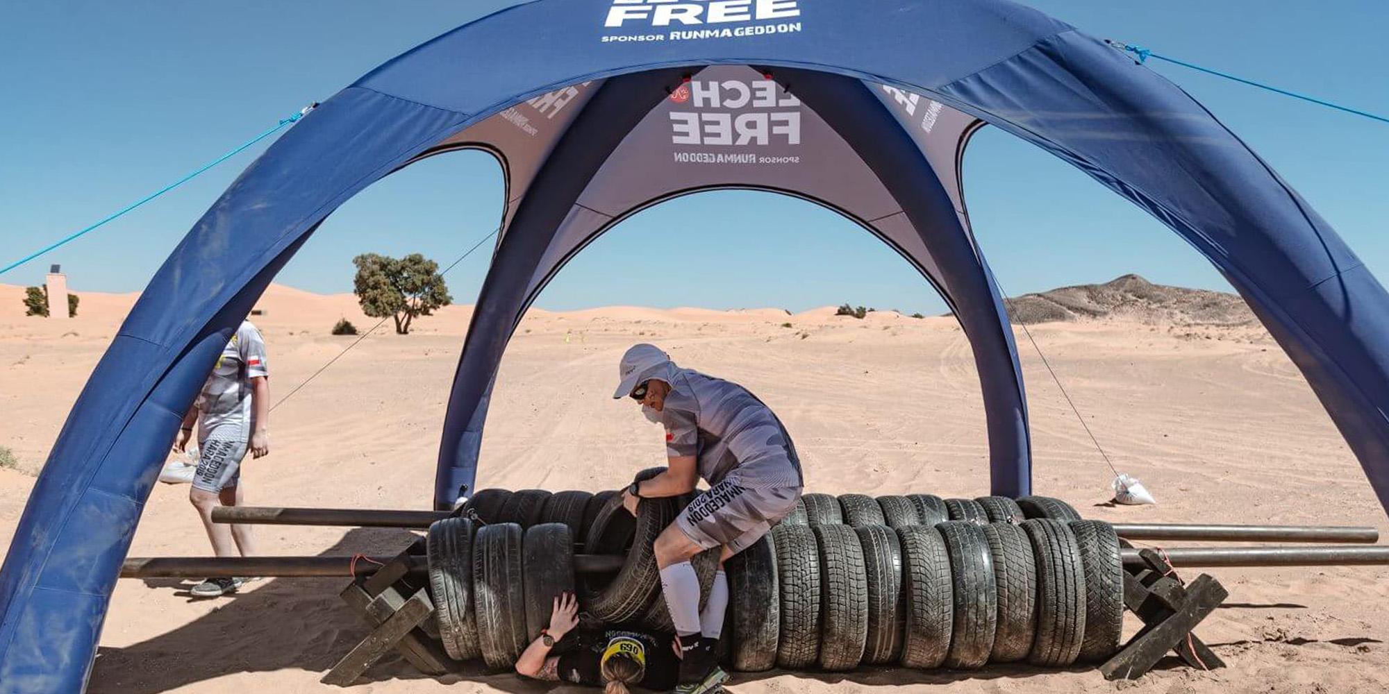 Namiot stałociśnieniowy VENTO na pustyni