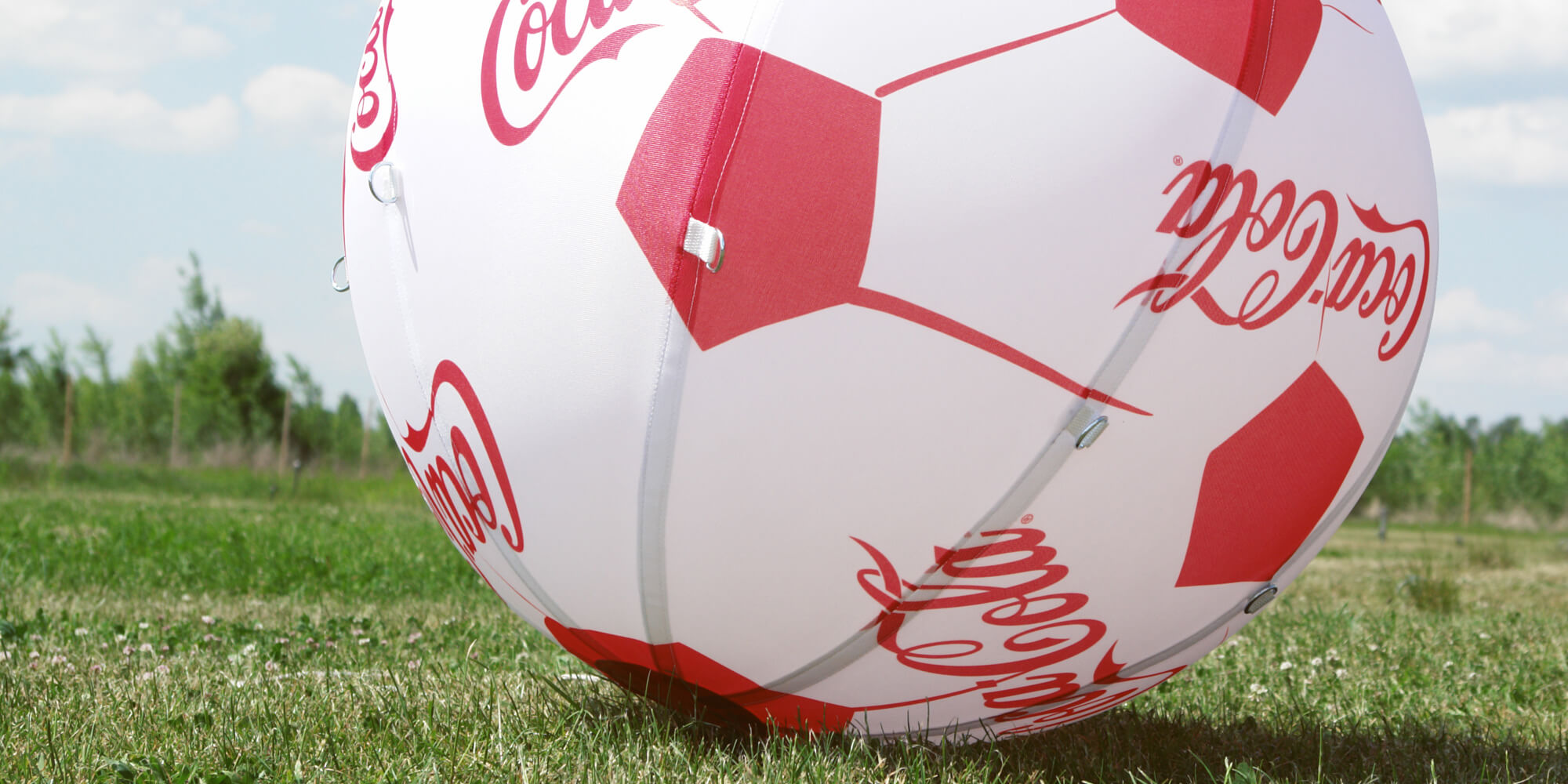 Balon helowy z zadrukowana powłoką Coca-Cola