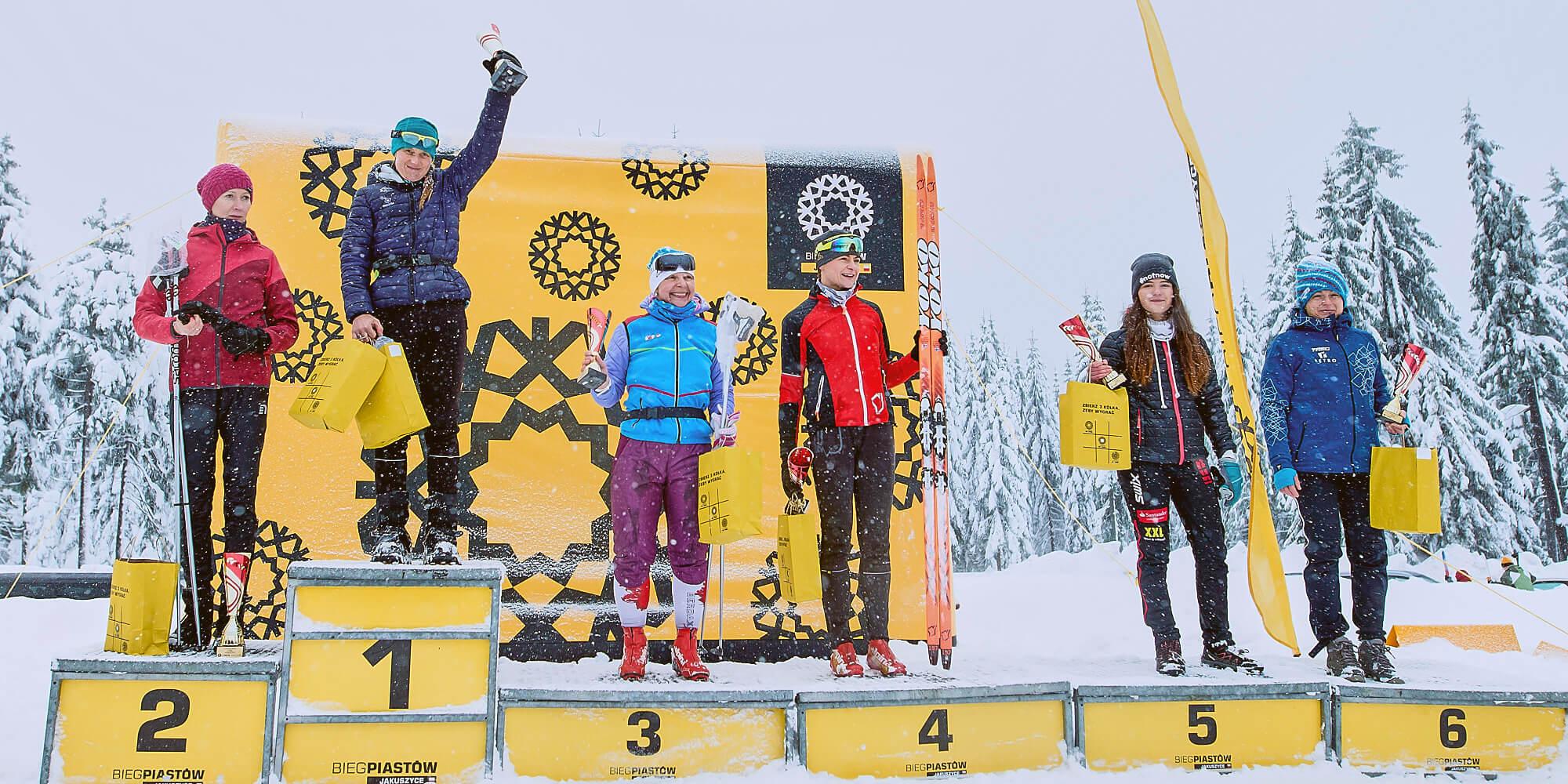 Dmuchany ekran VENTO dekoracja zwyciezcow biegi narciarskie