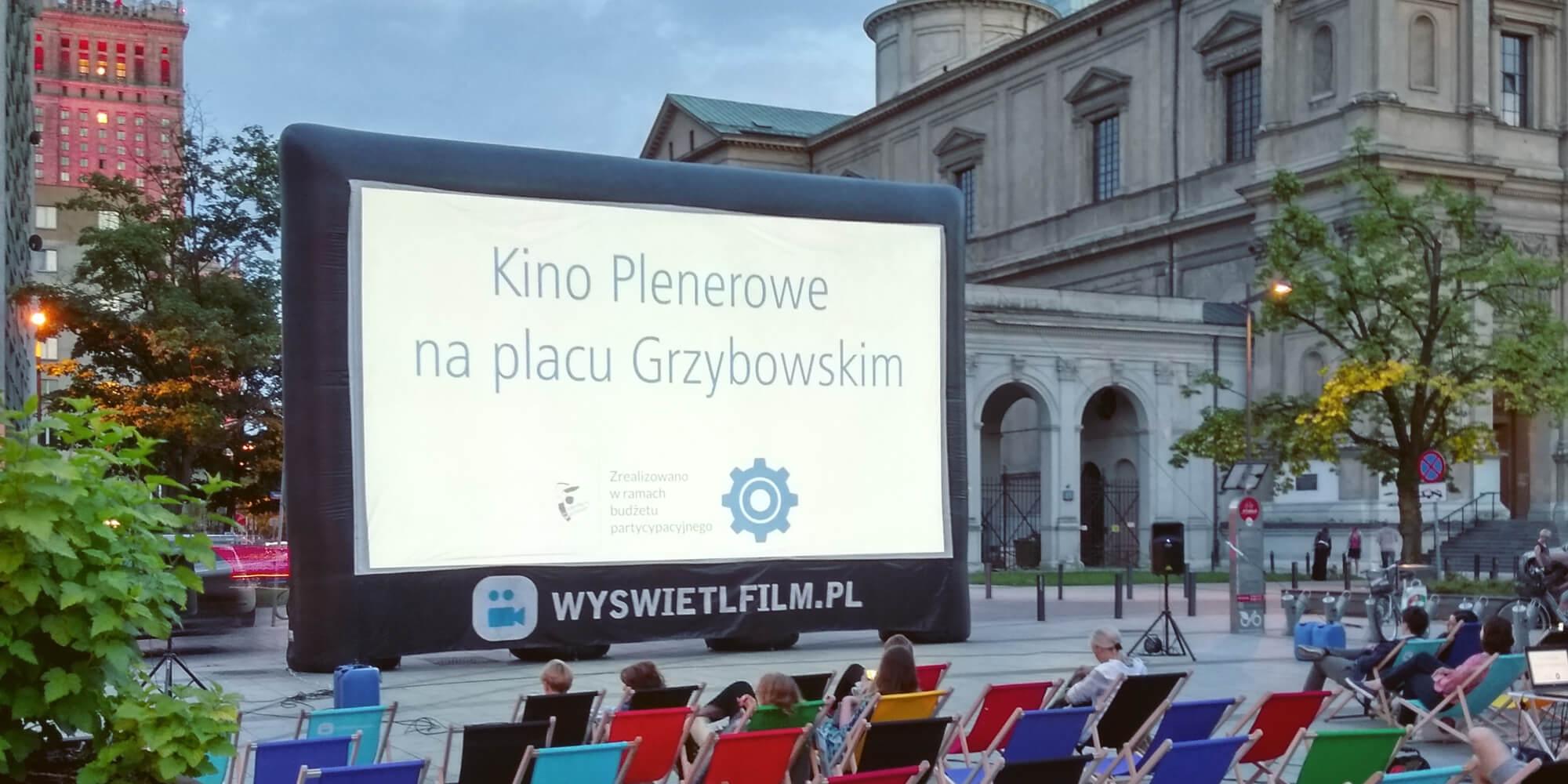 Kino plenerowe w mieście Warszawa na placu Grzybowskim